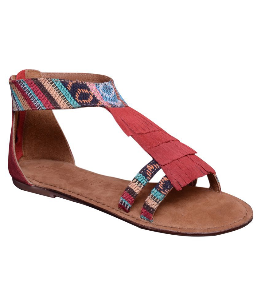 Suri Leather Multi Color Flats