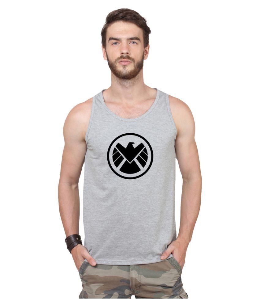 Flingr Grey Round T-Shirt