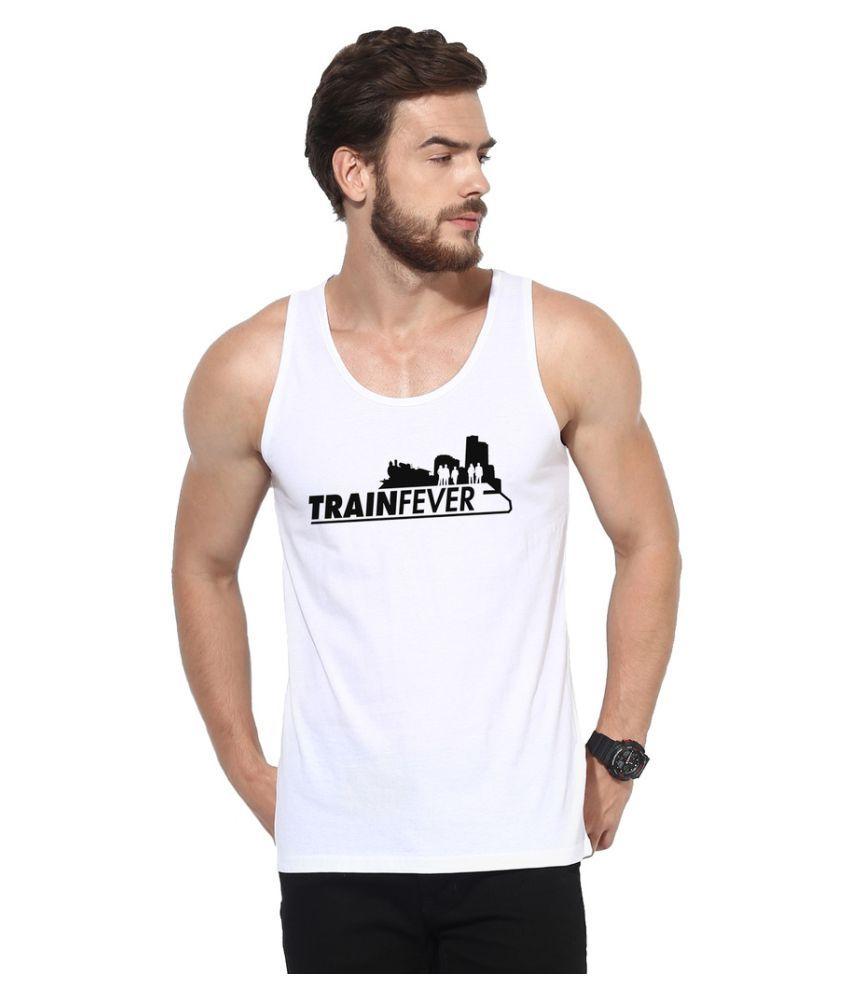 Flingr White Round T-Shirt