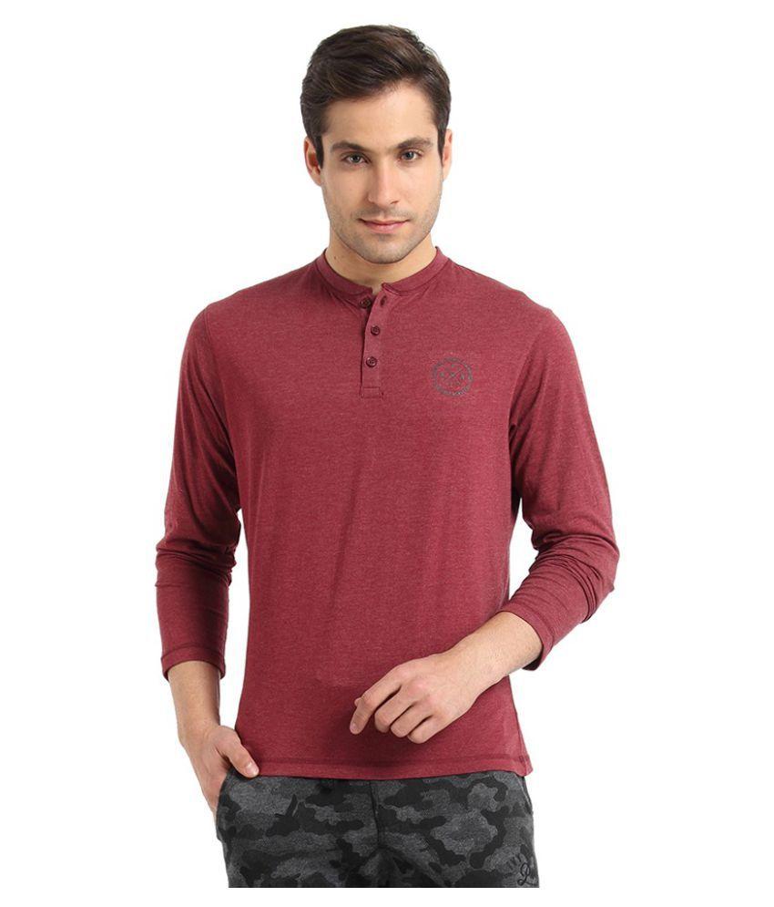 Proline Maroon Henley T-Shirt