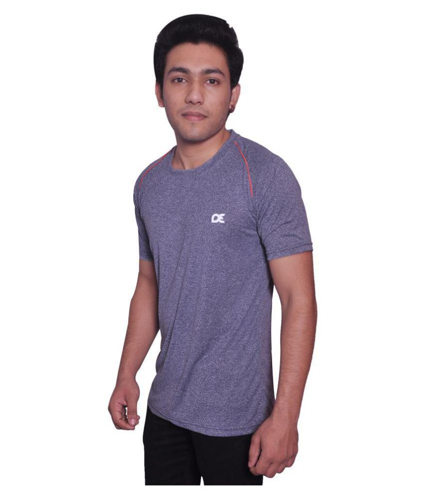 Dyed Colours Grey Polyester T-Shirt Single Pack