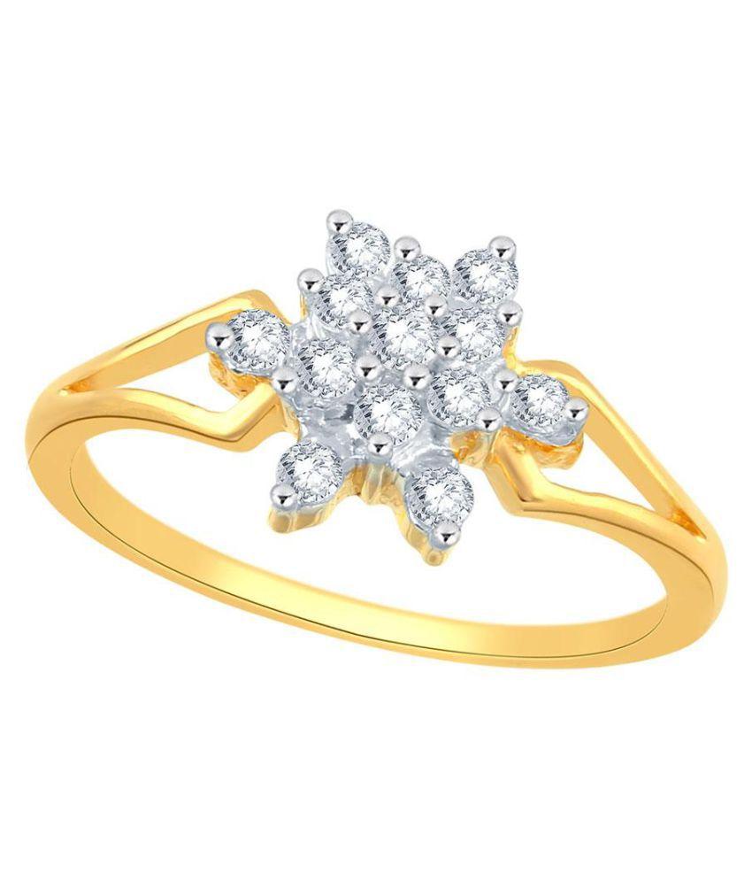 Sangini 18k Yellow Gold Diamond Ring