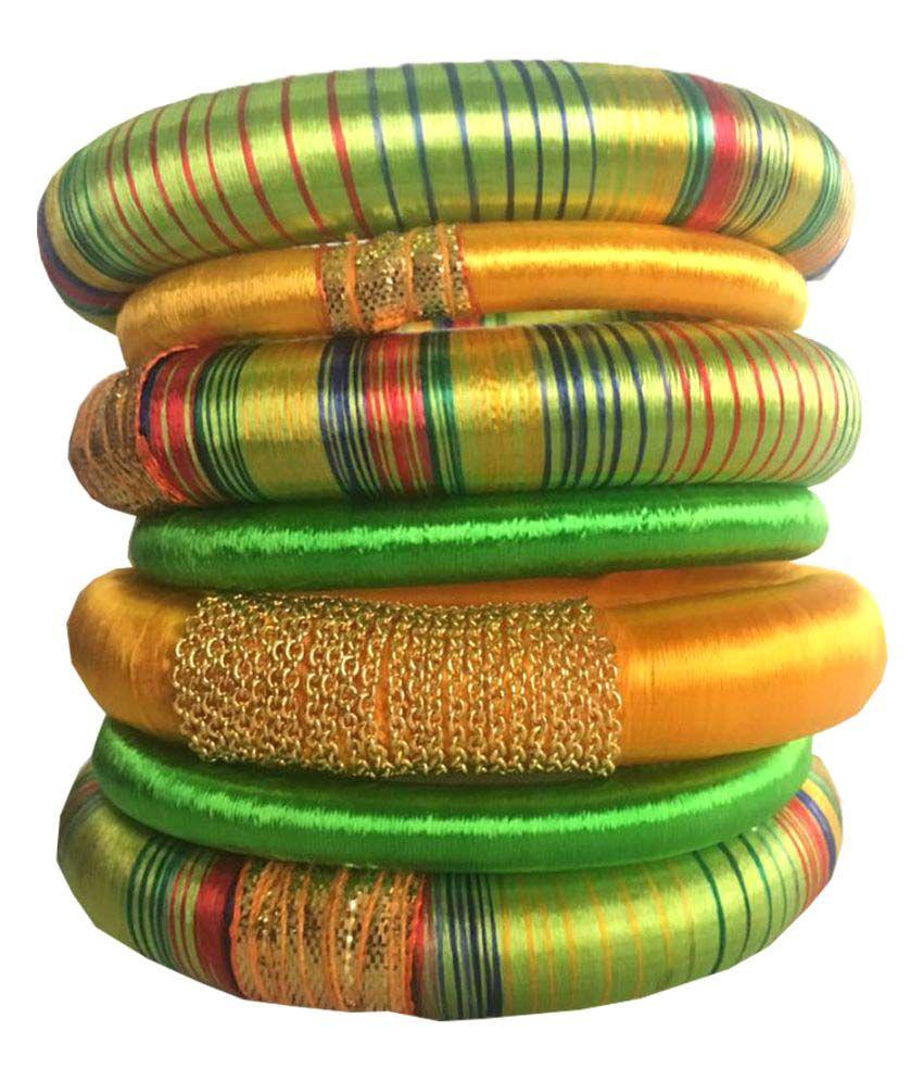 Kuhuk Multicolour Bangle Set