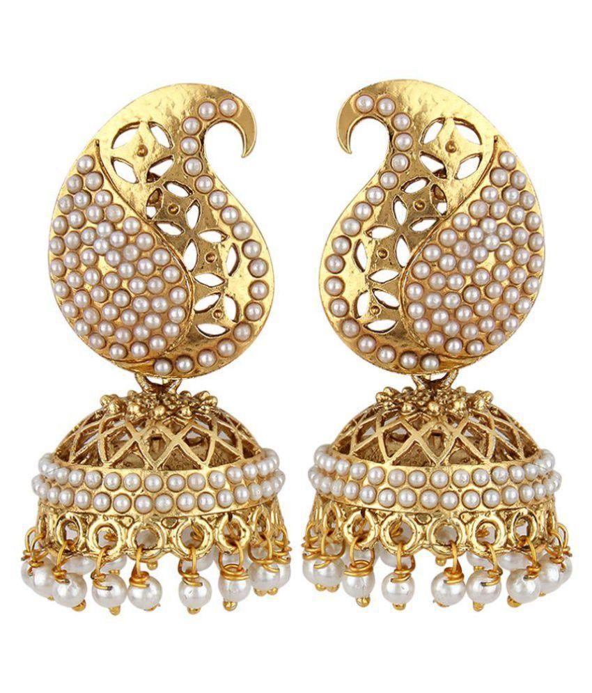 Jewels Guru Exclusive Golden Earrings