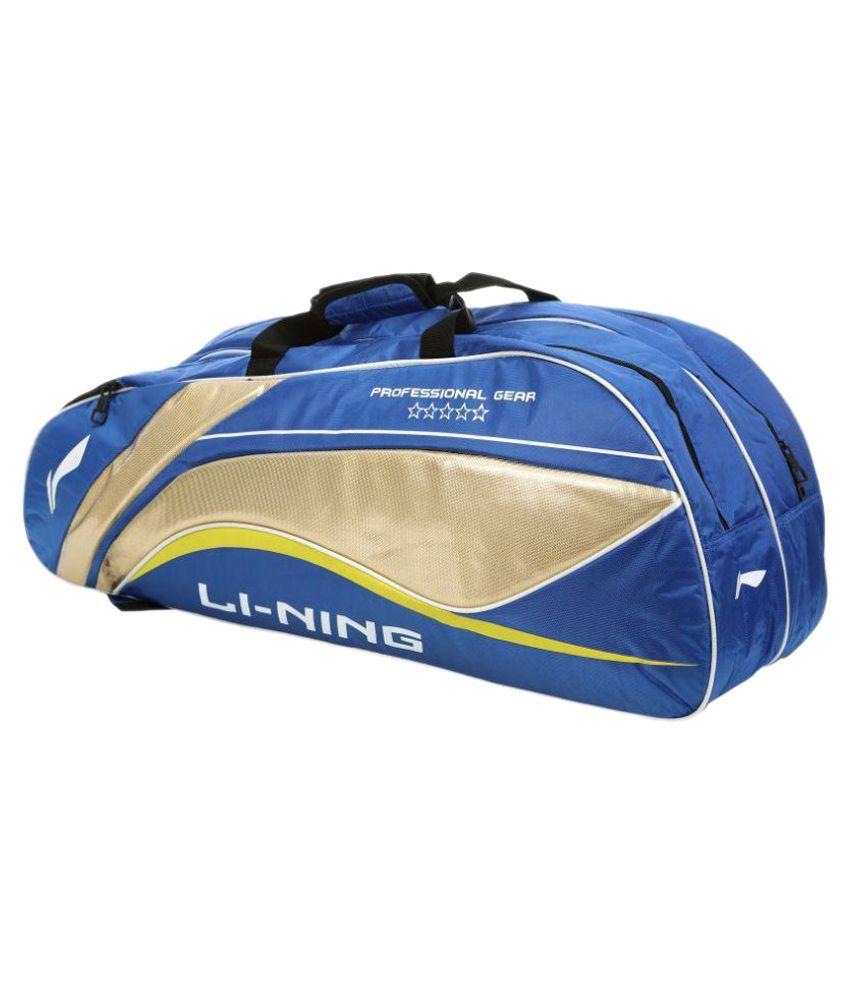 Li-Ning Blue Duffle bag with shoulder strap Badminton Kit Bag