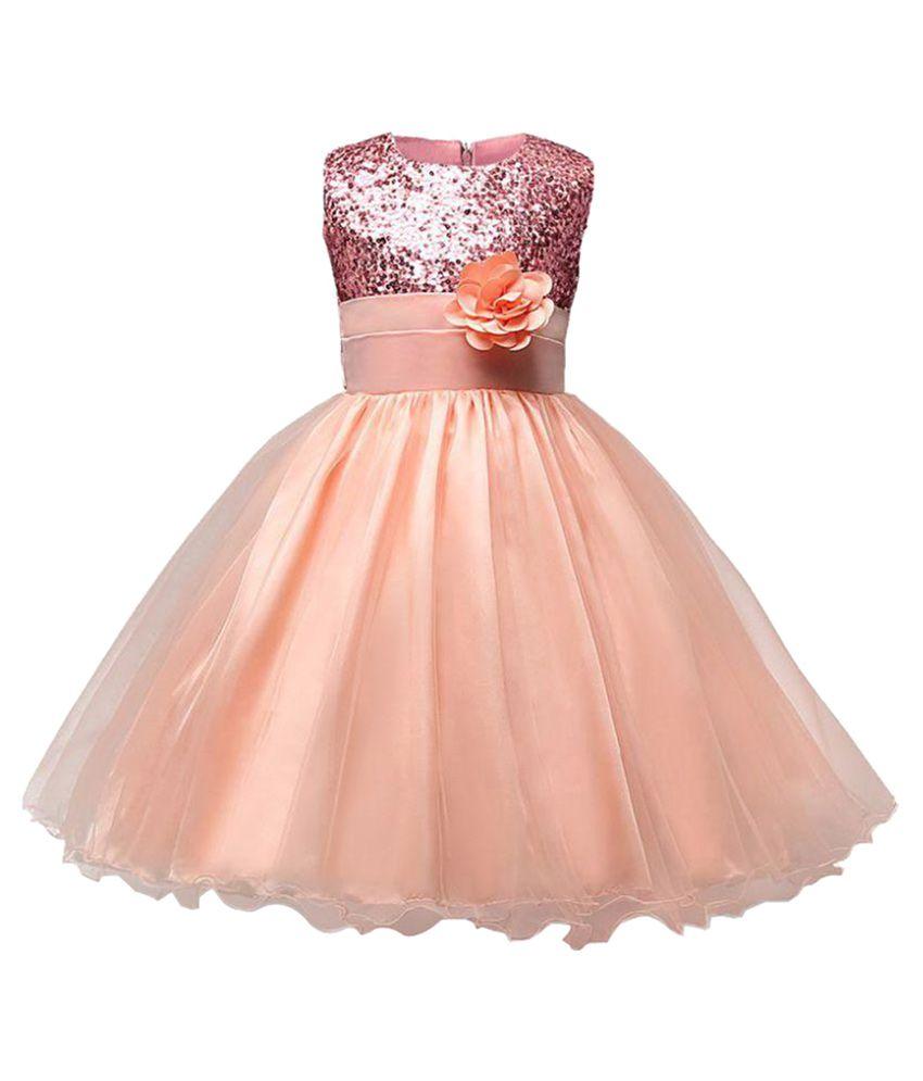 Sofyana Peach Ball Gown