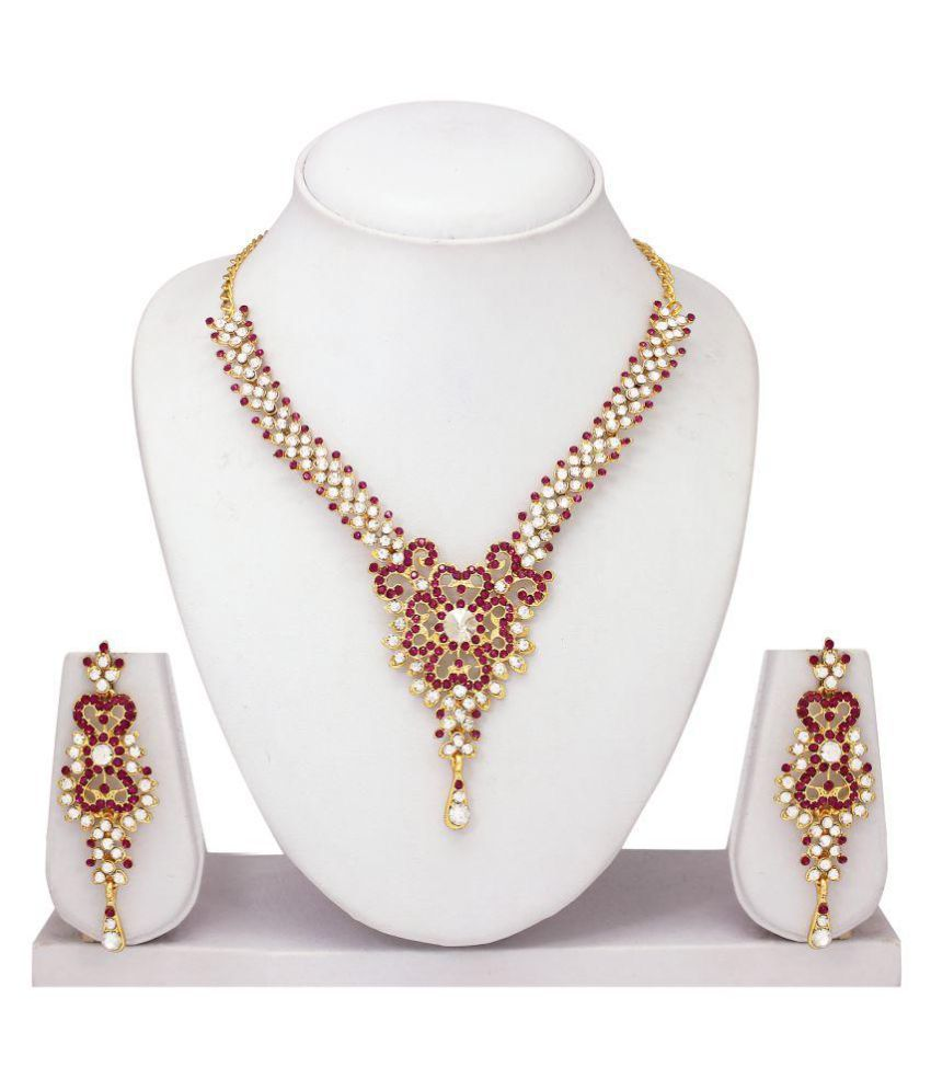 Atasi International Multicolour Alloy Necklace Set