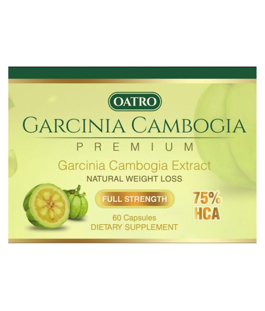 Oatro Garcinia Cambogia 75 Hca 500 Mg 60 No S Un Flavoured Fat Burner Capsule