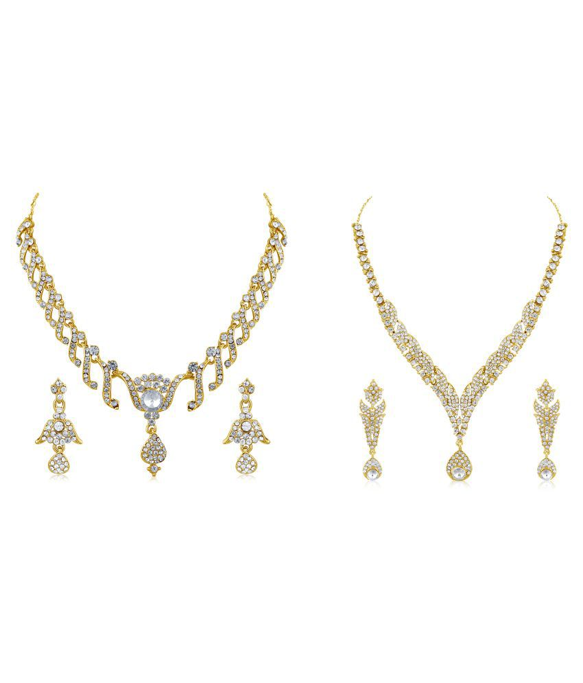 Inaya Gold Plated Necklace Set - Pack of 2