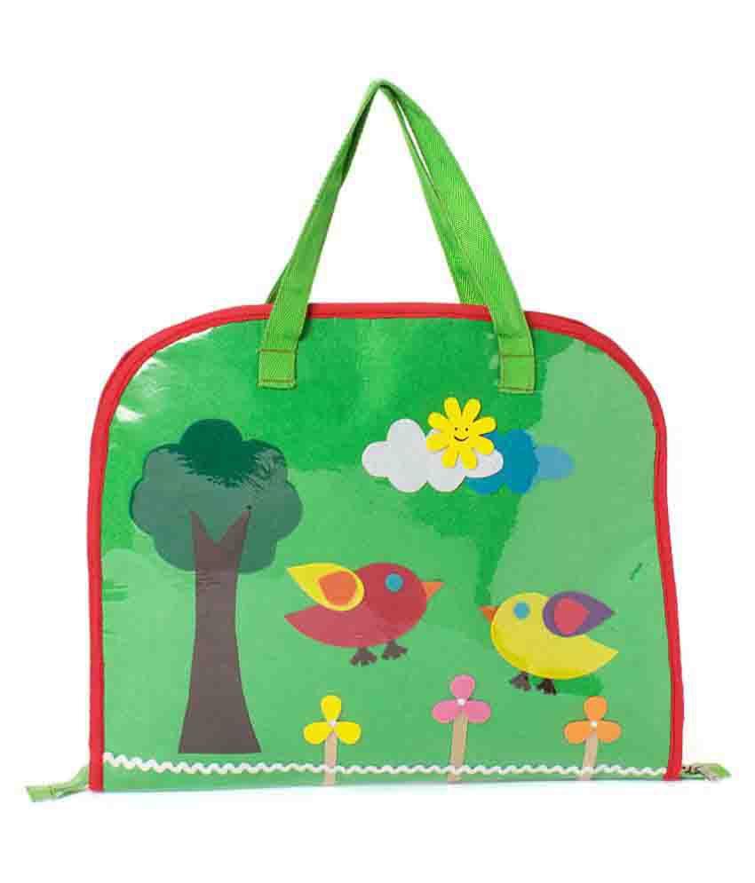 Lill Pumpkins Green Drawing Bag