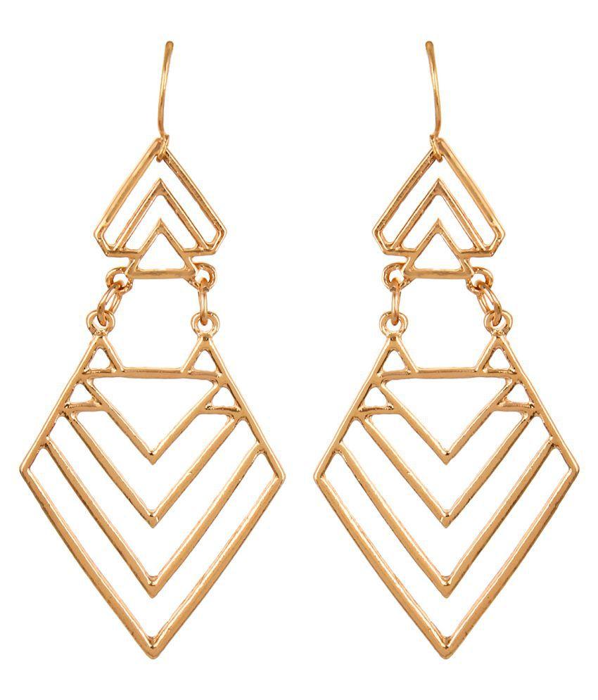 Atlaa Batlaa Golden Hanging Earrings