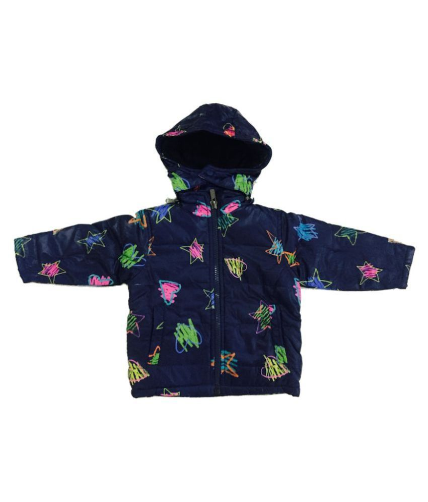 Top Gear Blue Printed Jacket With Detachable Hood
