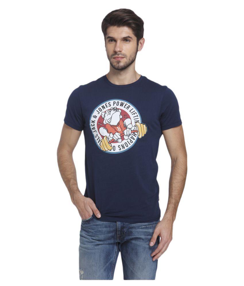 Jack & Jones Blue Round T-Shirt