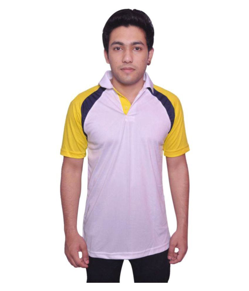 Dyed Colours Multi Polyester Polo T Shirt