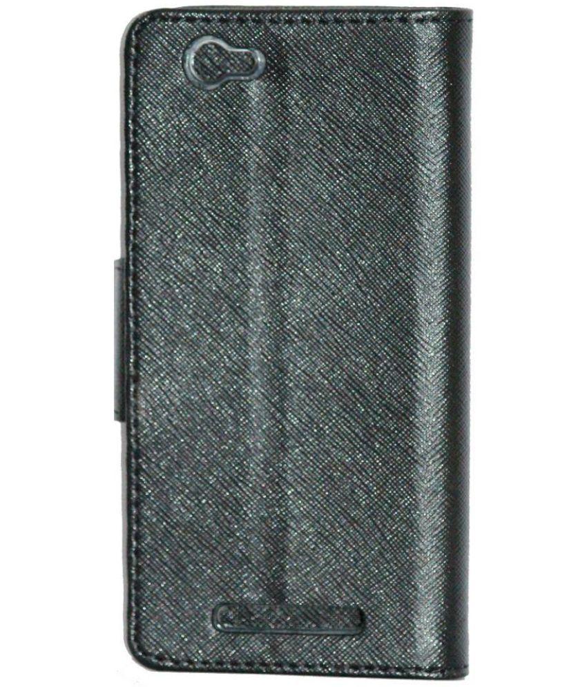 separation shoes 57869 0329e Lava X17 4G Flip Cover by Gizmofreaks - Black - Flip Covers Online ...