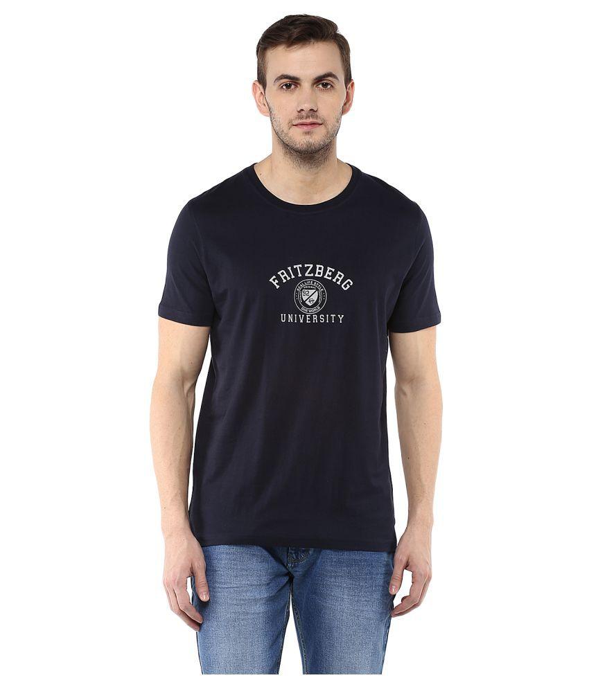 Fritzberg Navy Round T-Shirt