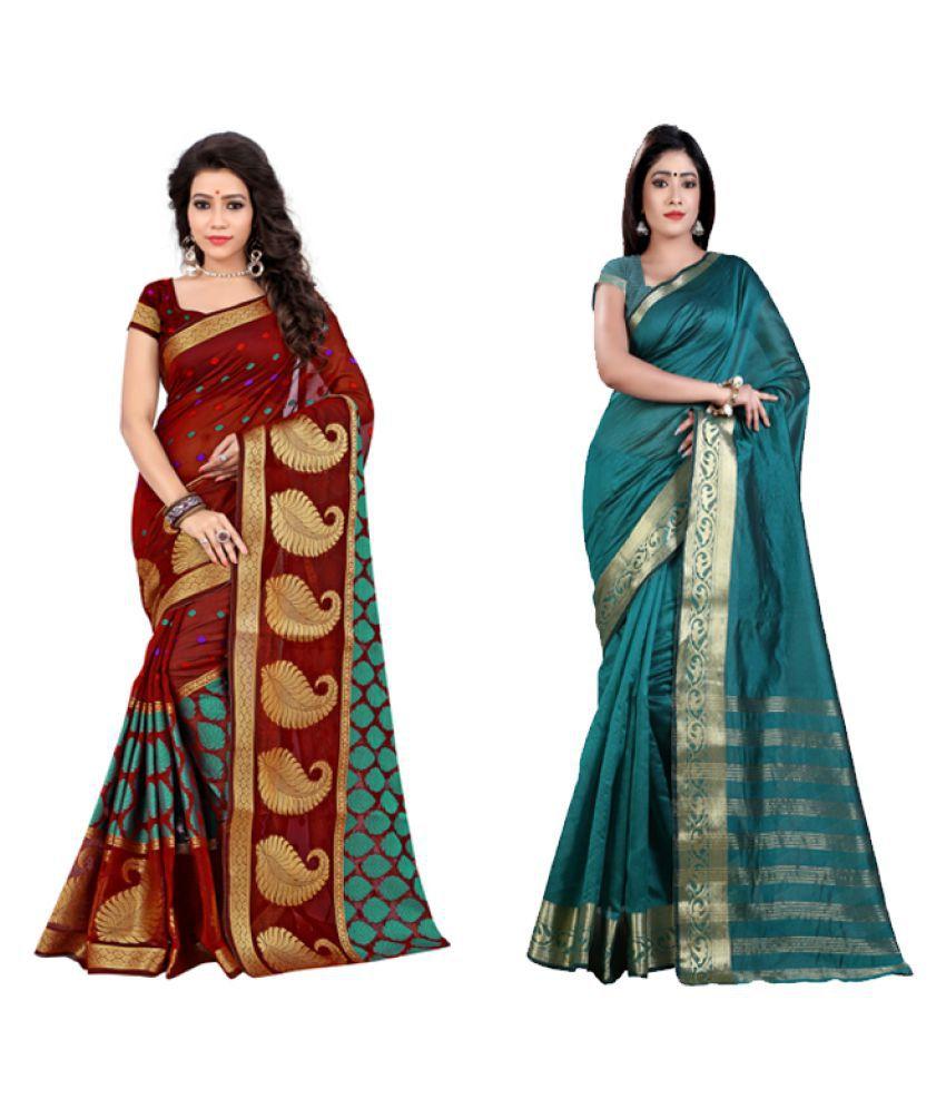 Jay Fashion Multicoloured Cotton Silk Saree Combos