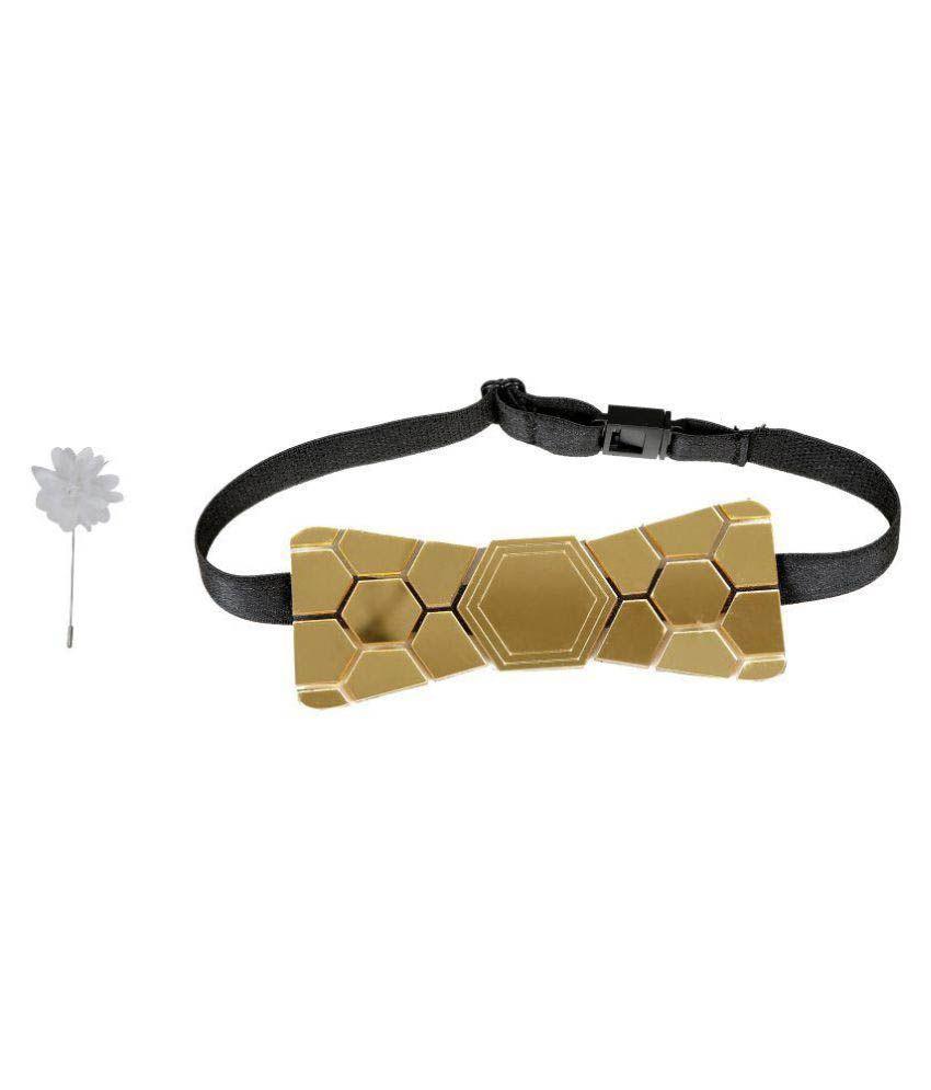 Hex Tie GoldenRod Party Necktie