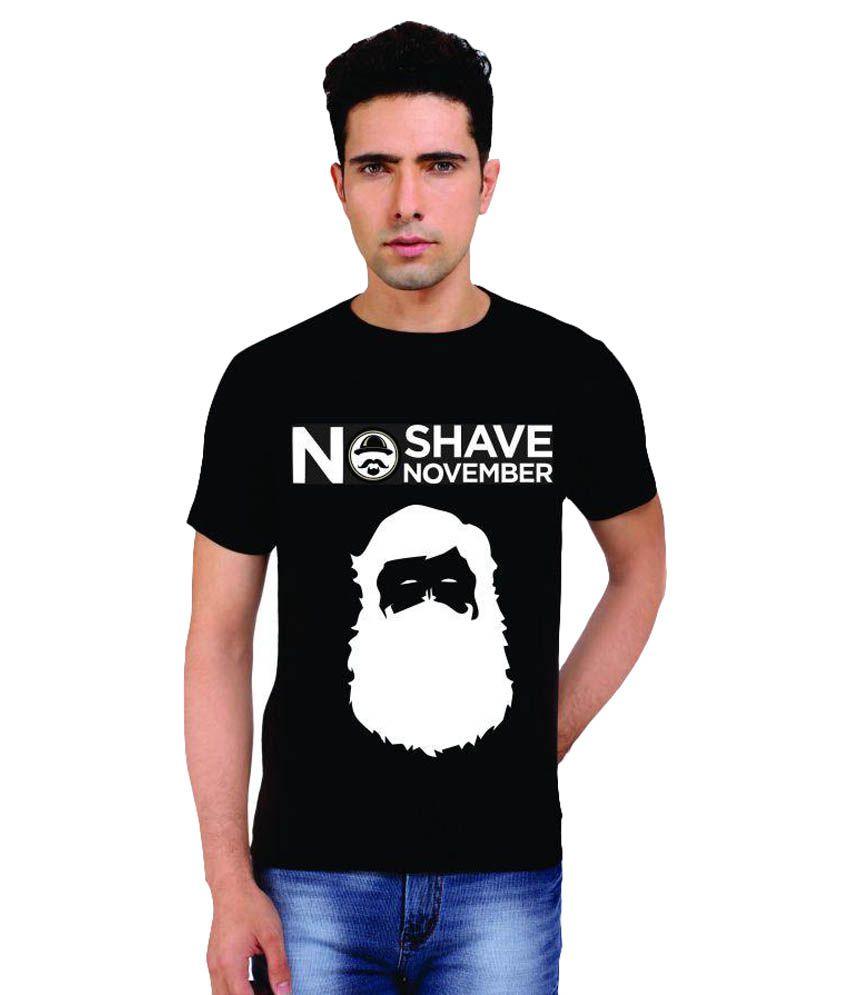 Melfon Black Round T-Shirt