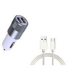Manipar Car Mobile Charger DTB-RD673 White With USB Cable