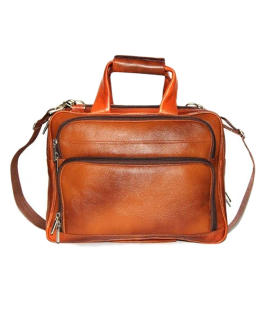 Bag Jack Tan Leather Office Bag