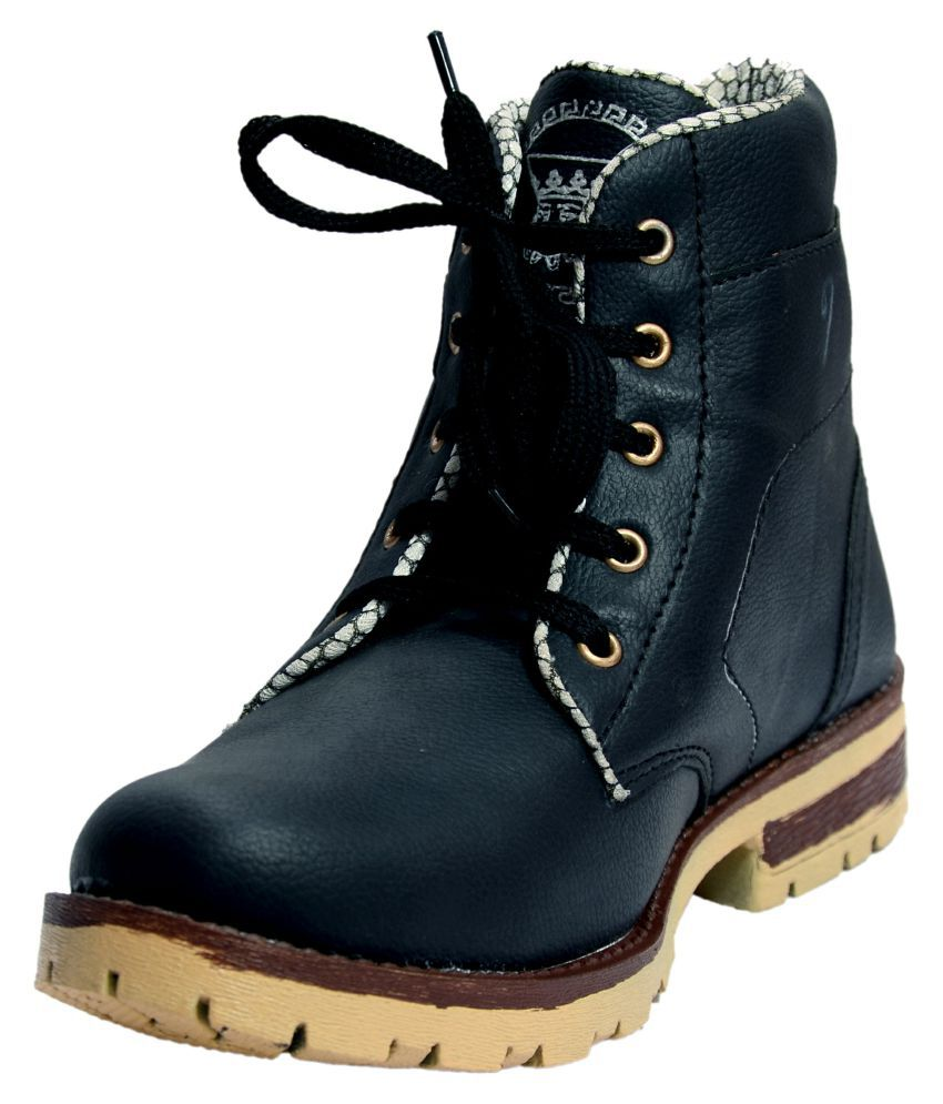 Pu-ASIA Black Casual Boot