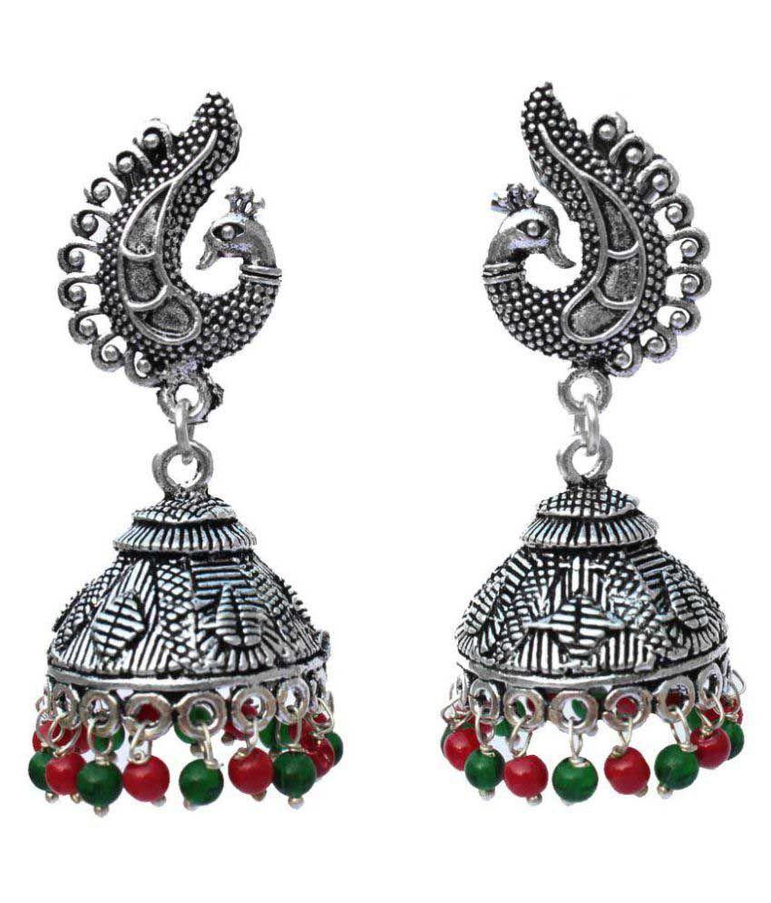 Kaizer Jewelry Multicolour Jhumki Earrings