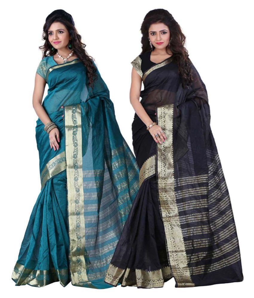 Saloni Designer Multicoloured Art Silk Saree Combos