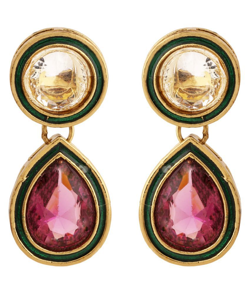 Rajwada Arts Golden Drop Earring