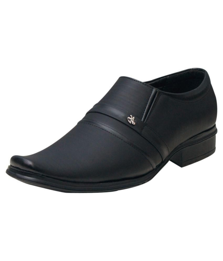 00RA Black Slip On Artificial Leather Formal Shoes discount big discount Ulhl2Dd