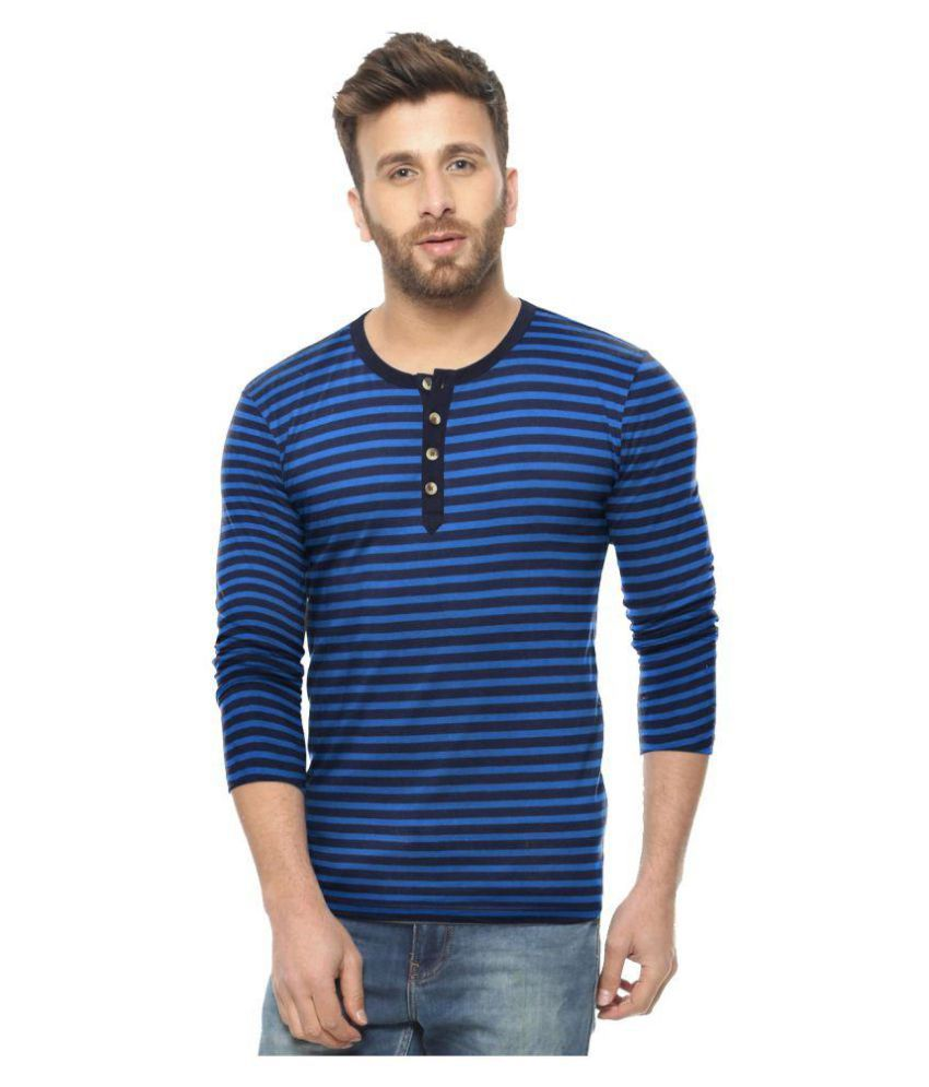 Avenster Blue Round T-Shirt