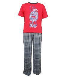 Jounior Boxer Multicolor Top & Pyjama Set