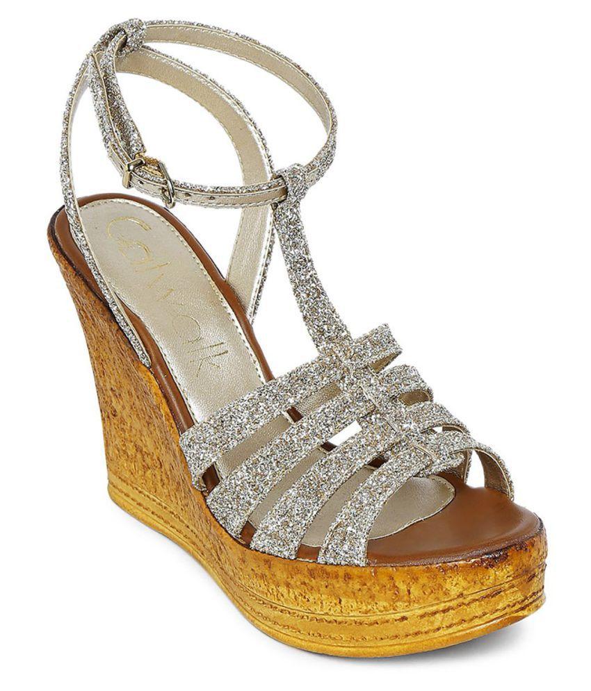 Catwalk Silver Wedges Heels