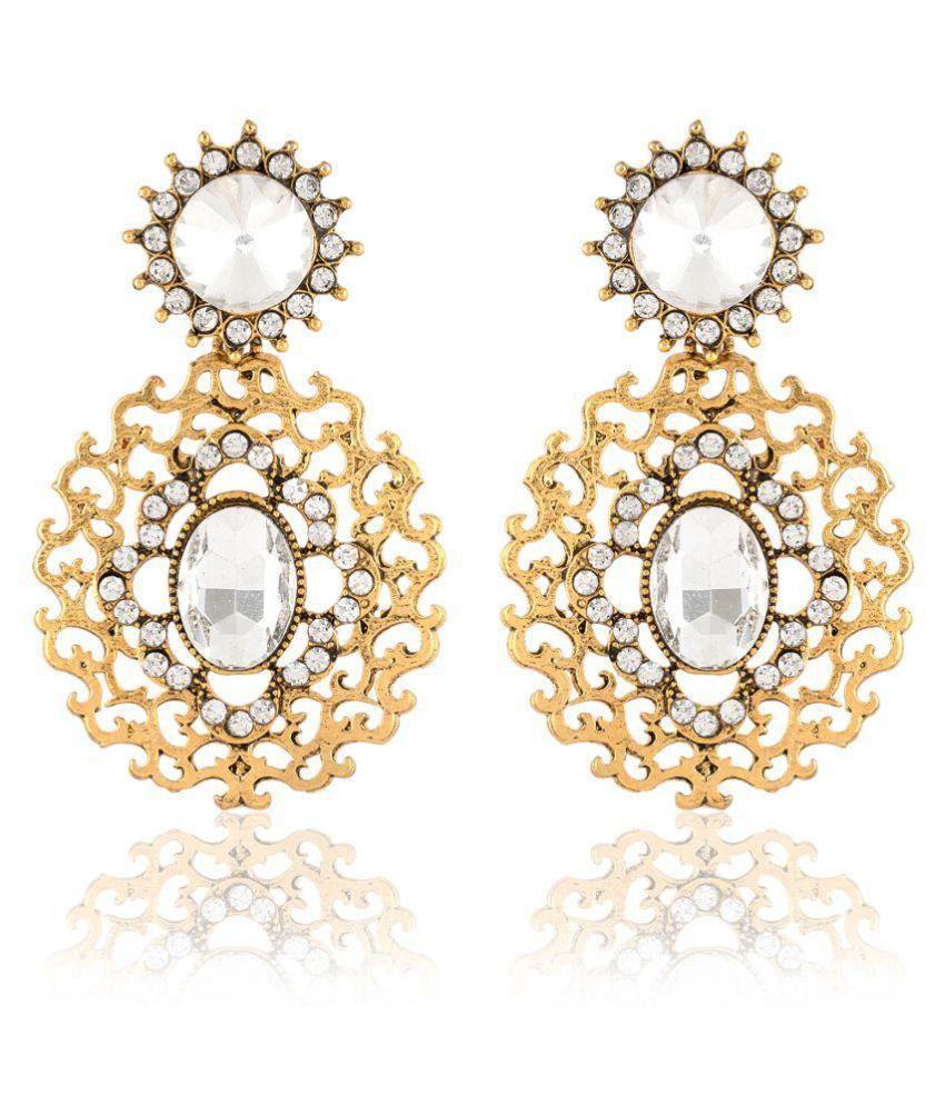 Jewels Guru Exclusive Golden Earrings.