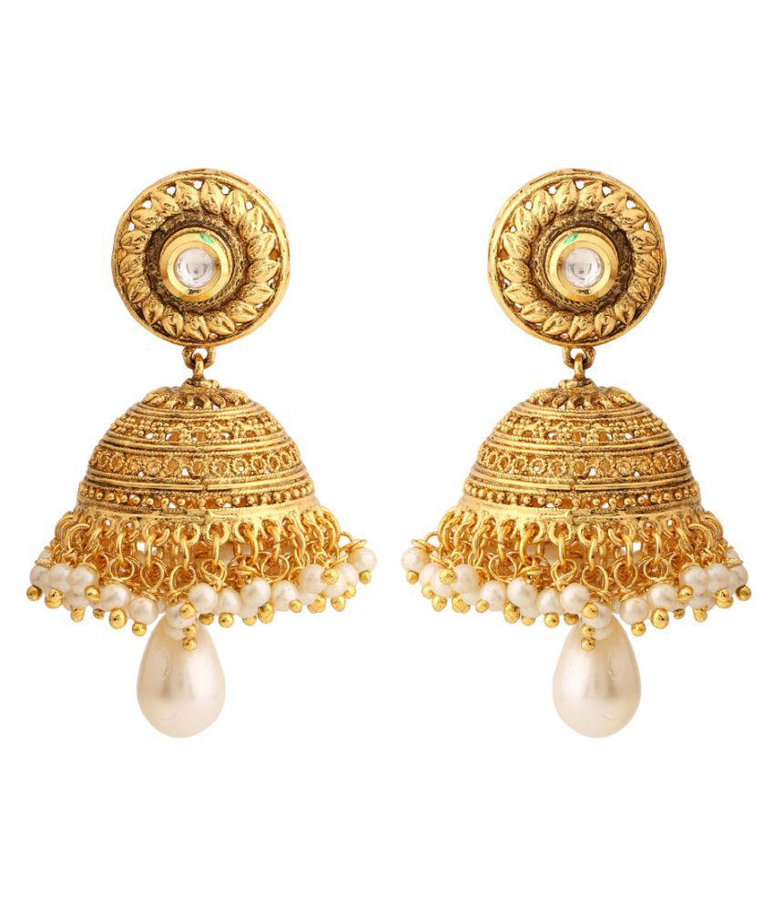 Rajwada Arts Golden Earrings