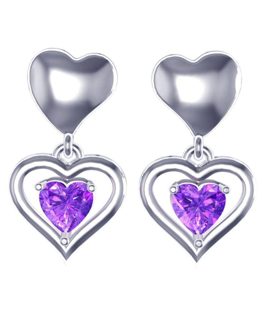 Suvam Jewels 92.5 Silver Swarovski Hangings