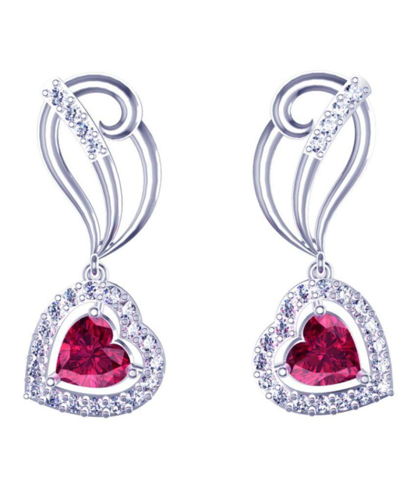 Suvam Jewels 92.5 Silver Swarovski Drop Earrings