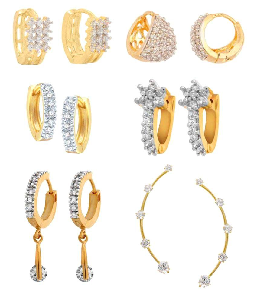 Jewels Gehna Alloy Party Wear Combo Earring Set -Pair of 6