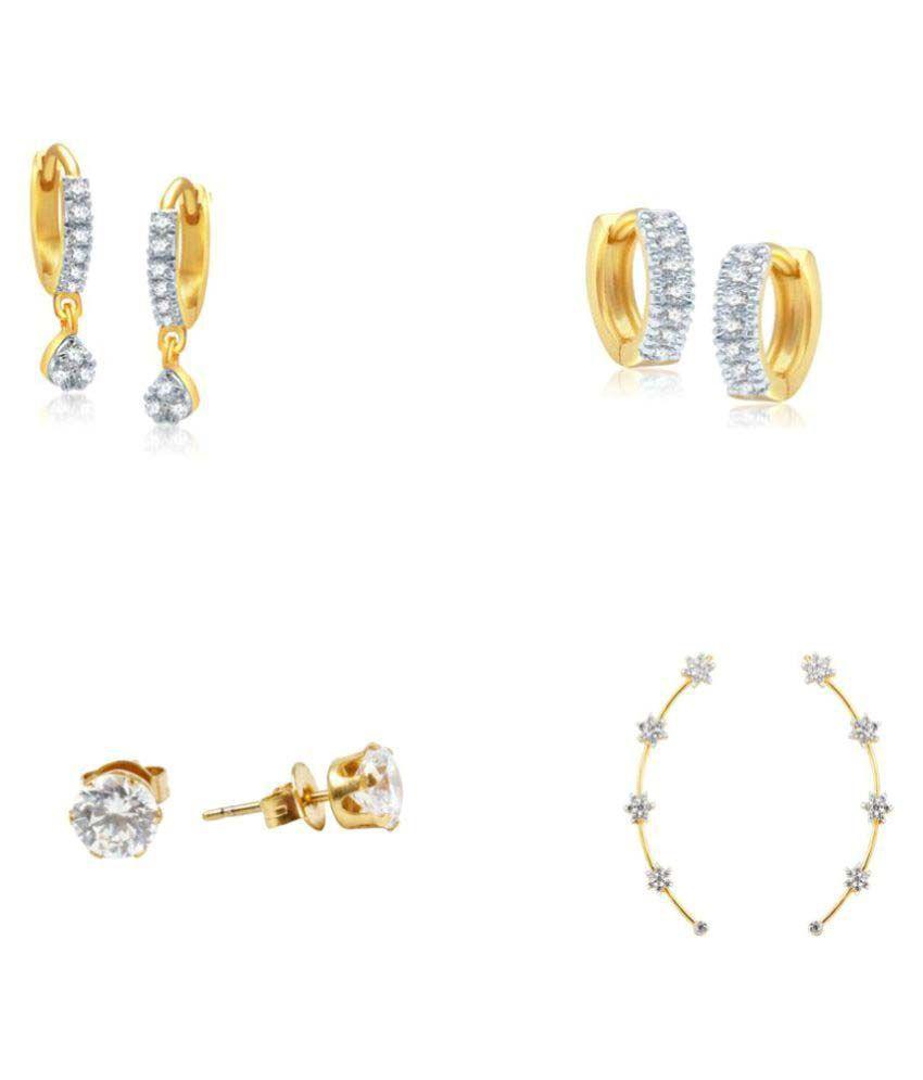 Jewels Gehna Multicolour Alloy Earrings - Pair of 4