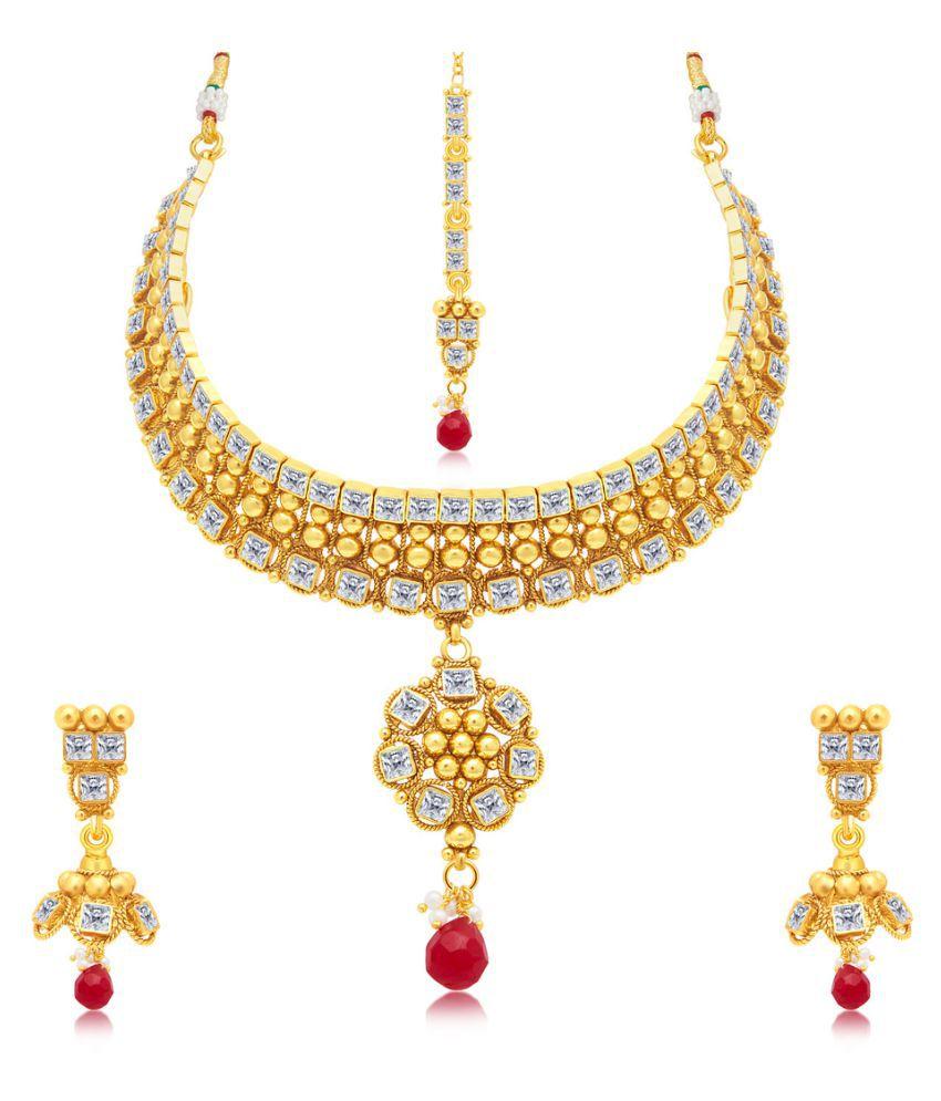 Sukkhi Intricately Gold Plated Necklace Set