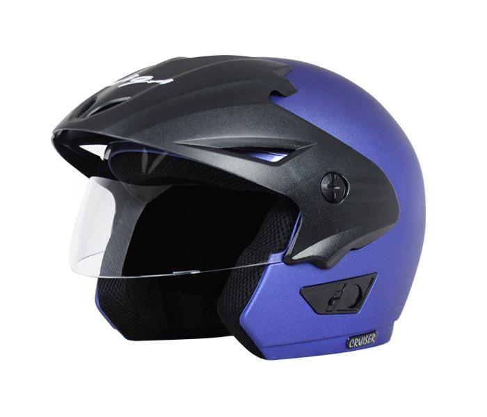 Vega Helmet - Cruiser With Peak (Dull Blue)