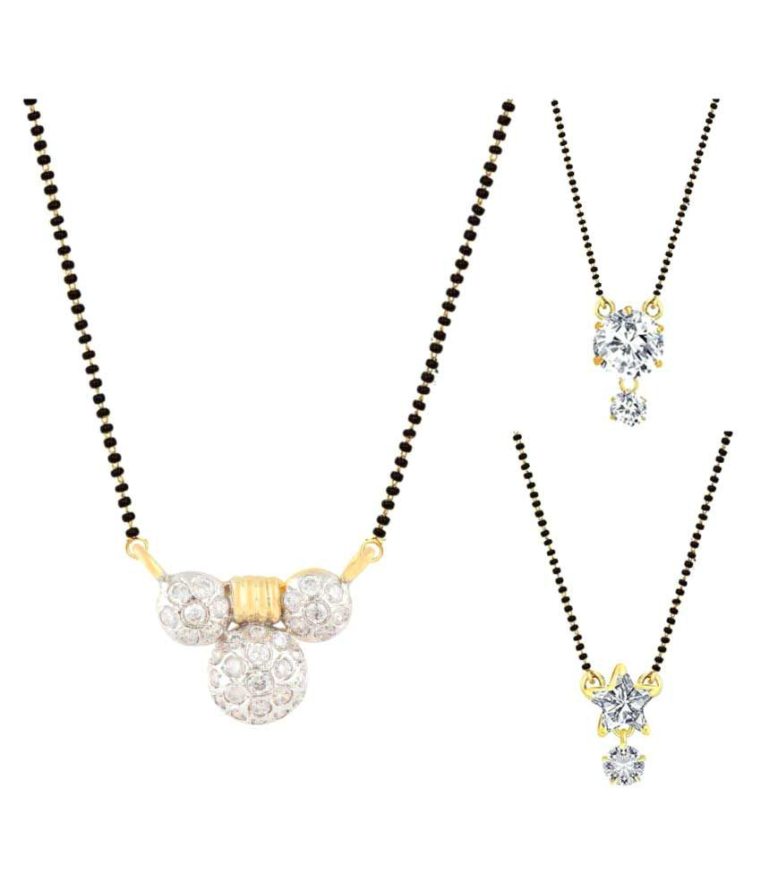 Archi Collection Pack of 3 CZ Mangalsutra