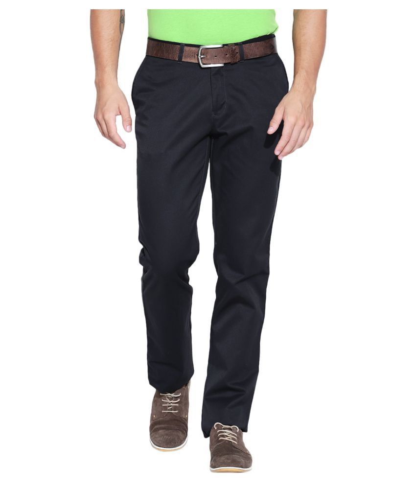 Blackberrys Black Slim Flat Chinos