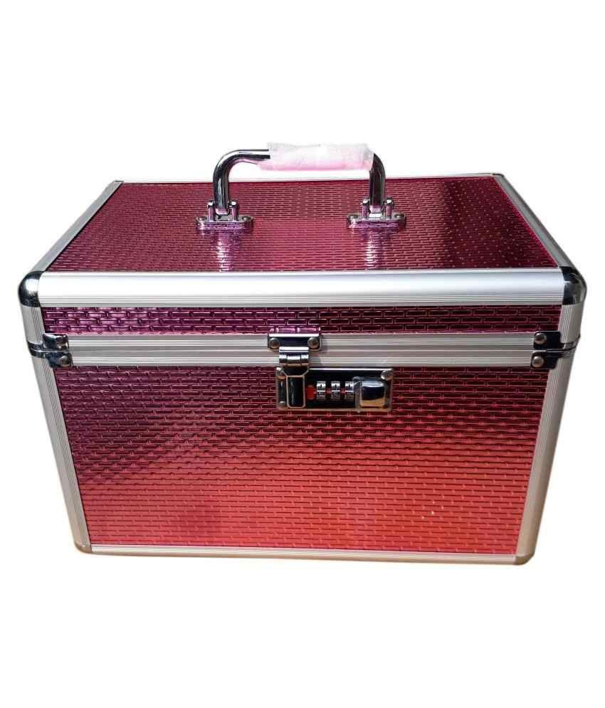 Bonanza Pink Metal Jewelry Vanity Box