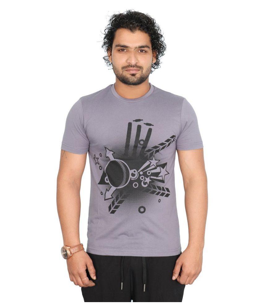 Vector X Light Grey Cotton T-Shirt
