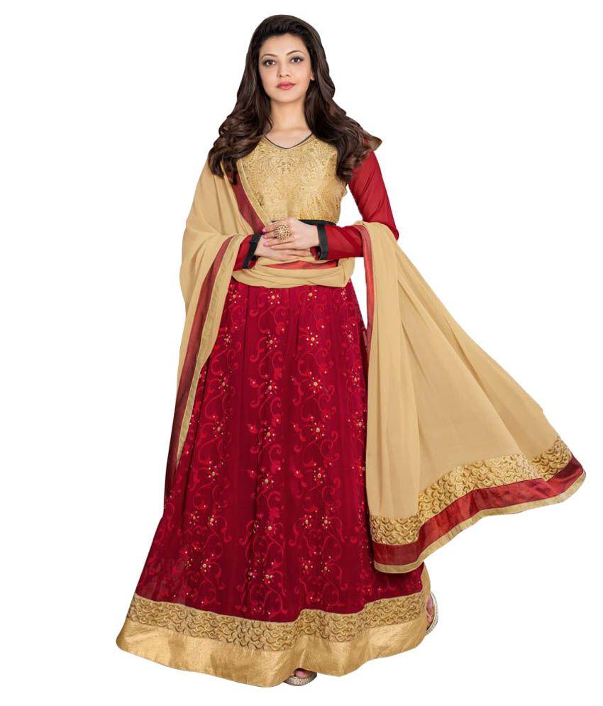 Seewans Multicoloured Georgette Dress Material