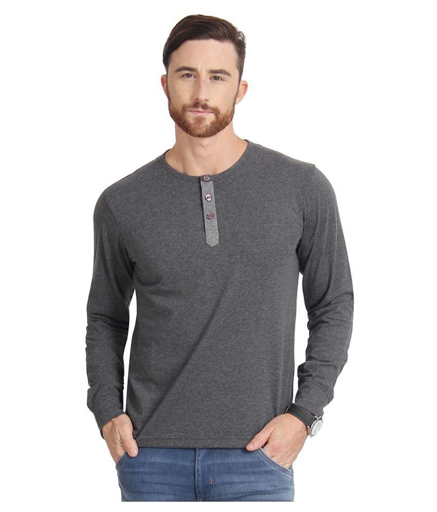 Slub Grey Henley T-Shirt