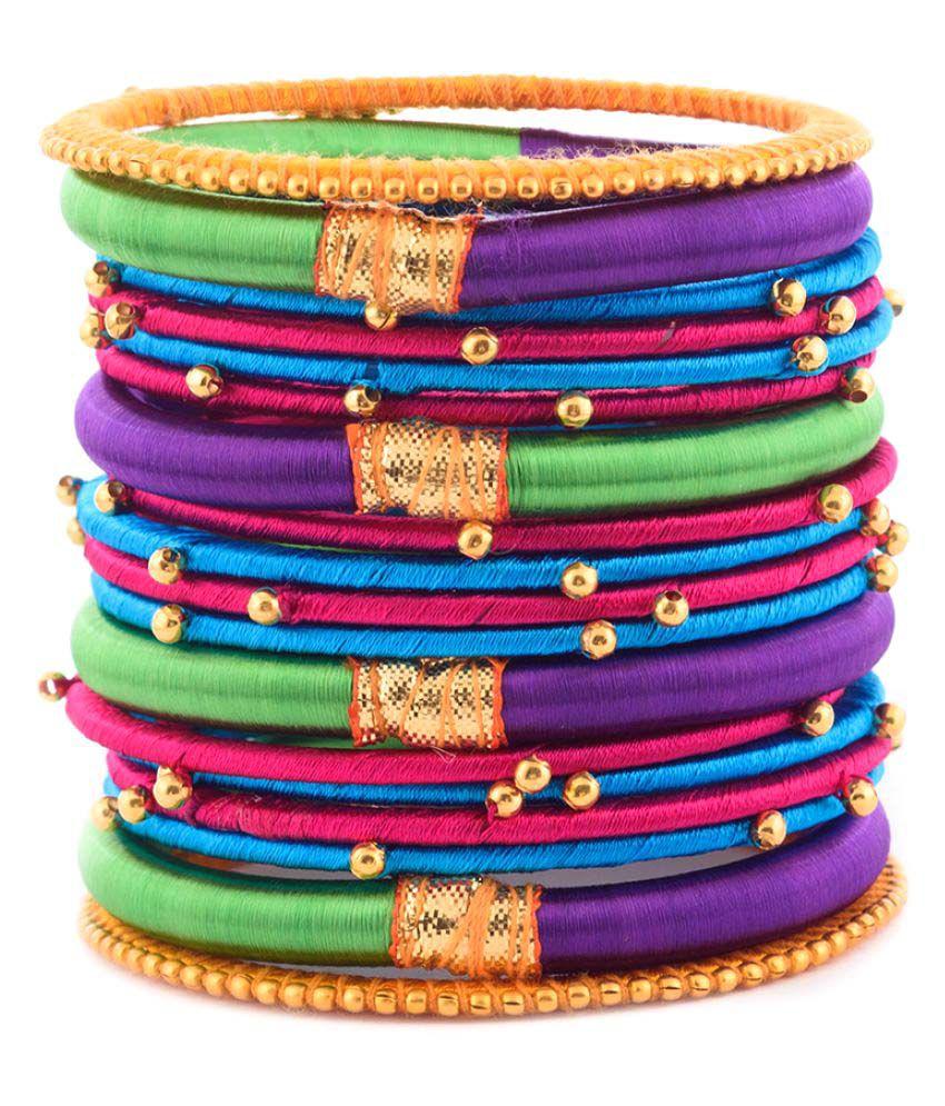 Kuhuk Multicolour Plastic Bangle Sets