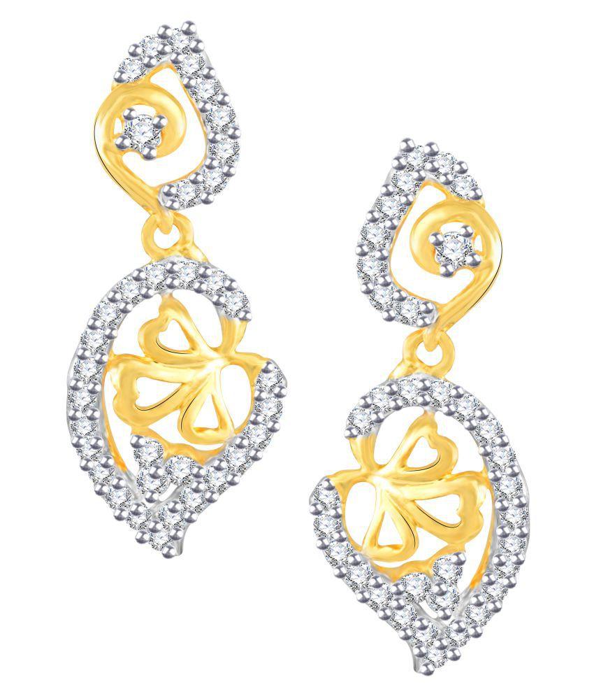 Vidhi Jewels Golden Brass Earrings