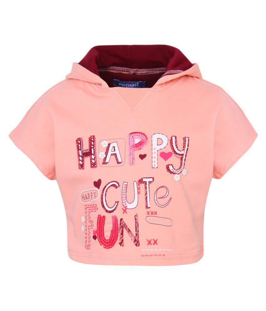 Nauti Nati Peach Front Open Sweatshirt